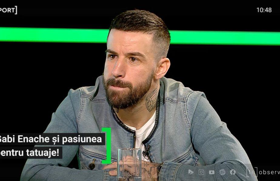 """EXCLUSIV AS.ro LIVE   """"Vreau să mă acopăr tot, cu tatuaje :)"""" Gabi Enache și pasiunea nebună pentru tatuaje! Soția sa îl ispitește cu cozonaci"""