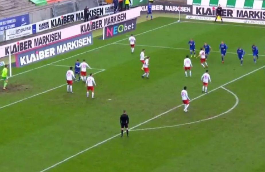 VIDEO   Imagini inedite! Adversarilor nu le-a venit să creadă! Cum a executat o lovitură de la colţ o echipă din Germania