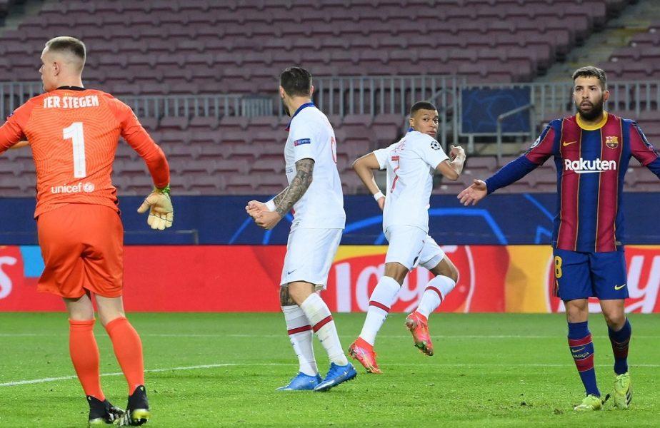 Champions League | Barcelona – PSG 1-4,  Leipzig – Liverpool 0-2. Mbappe, hat-trick fabulos pe Camp Nou! Gafe uriaşe la Budapesta