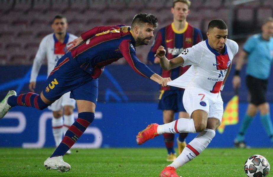 """Dovada haosului de la Barcelona! Dialog interzis minorilor între Gerard Pique şi Antoine Griezmann în timpul meciului cu PSG. """"Alergăm ca nebunii!"""""""