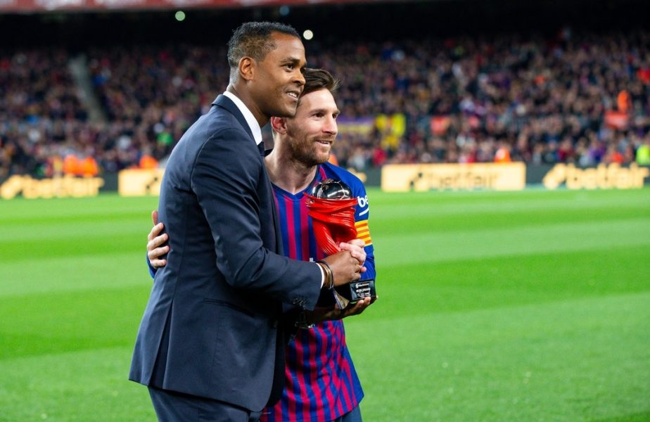 Patrick Kluivert şi Lionel Messi