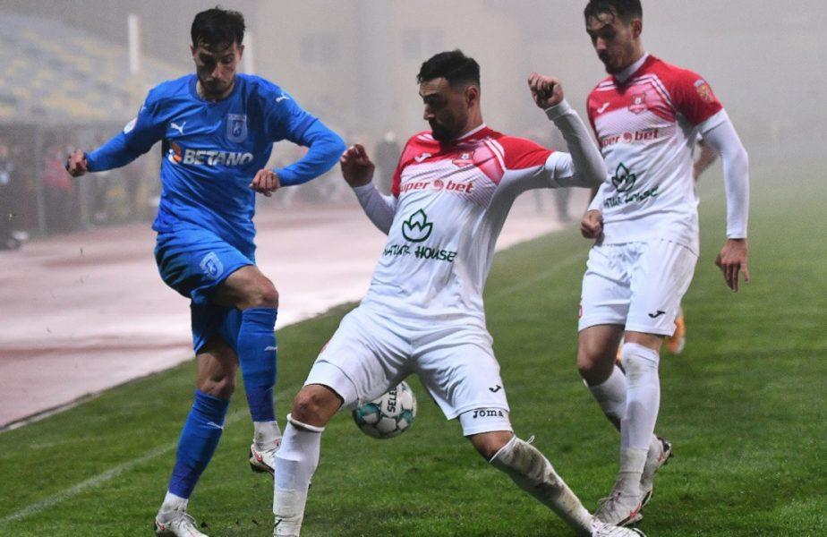 Universitatea Craiova – Hermannstadt 1-0. Prima victorie în Liga 1 pentru Marinos Ouzounidis. Oltenii, la un singur punct de FCSB și CFR Cluj