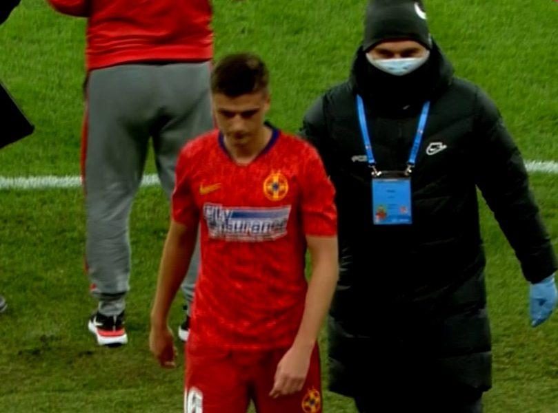 Coşmarul continuă pentru Dragoş Nedelcu! A rezistat doar 11 minute pe teren cu Chindia. Revenise după o pauză de 7 luni