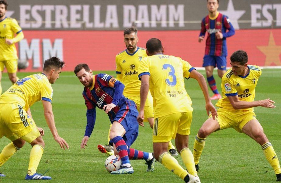 """Haos la Barcelona: """"Nu se mai poate aşa!"""" Koeman, mai supărat de egalul cu Cadiz decât de umilinţa cu PSG. Lionel Messi, gol şi cifre istorice"""