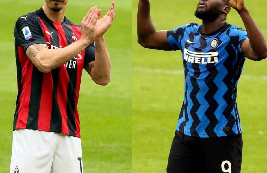 UPDATE | Cum a râs Romelu Lukaku de Zlatan Ibrahimovic, după AC Milan – Inter 0-3. Suedezul şi-a aplaudat rivalul