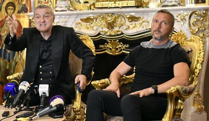 Gigi Becali şi Mihai Stoica, la o conferinţă de presă