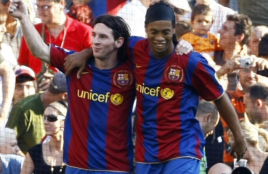 Mesajul emoţionant al lui Lionel Messi pentru Ronaldinho după moartea mamei vedetei braziliene