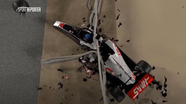 """VIDEO! Ce nu s-a văzut la tv. A fost recreat accidentul terifiant al lui Grosjean. """"M-am gândit numai la Niki Lauda"""""""
