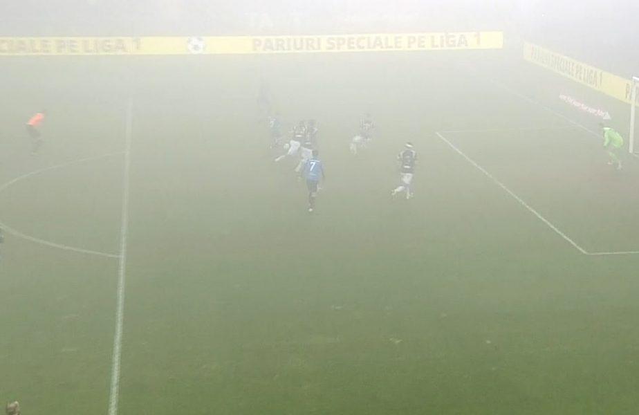 FC Viitorul – Poli Iași 0-0. Meciul a fost suspendat în minutul 65 din cauza ceţii şi nu se va mai relua astăzi! Decizia finală luată de arbitri