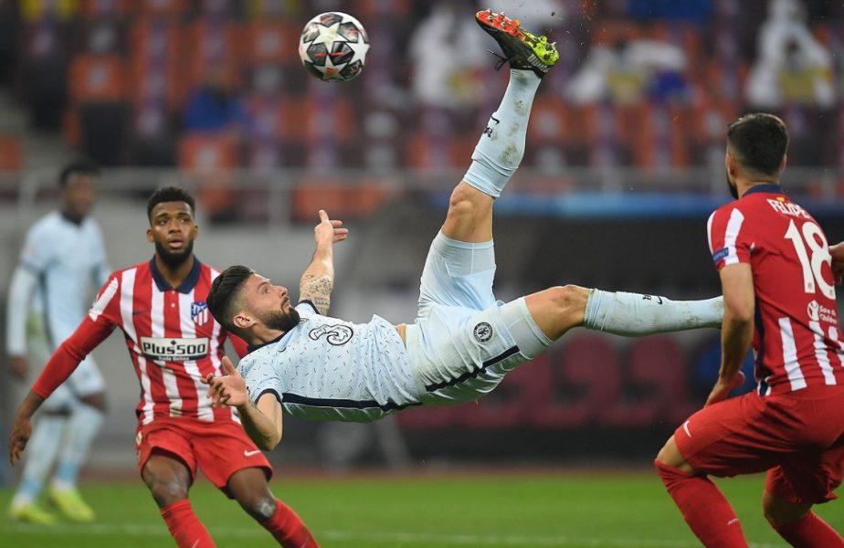 Atletico Madrid – Chelsea 0-1. Meciul anului în România pe Arena Naţională. Giroud, gol superb din foarfecă. Până şi el a crezut că e ofsaid