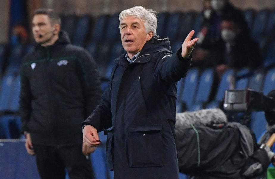 """Gian Piero Gasperini a """"tunat"""" la finalul duelului Atalanta – Real Madrid 0-1. """"Meciul a fost distrus de un incident"""""""
