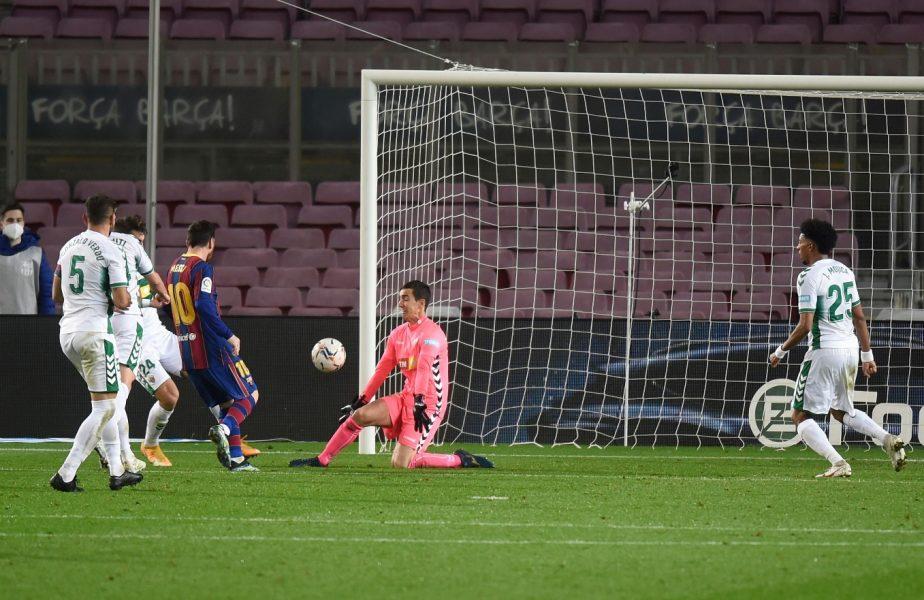 Lionel Messi l-a lăsat mască pe portarul lui Elche. Ce i-a răspuns când adversarul i-a cerut tricoul la finalul meciului