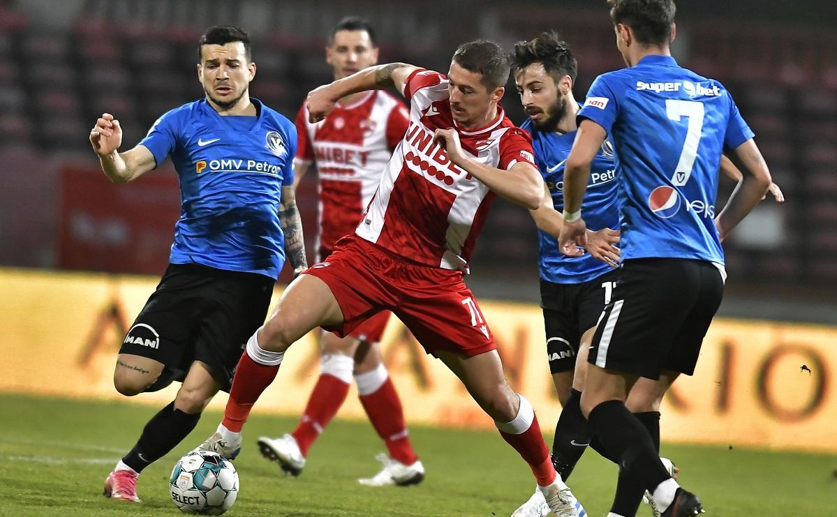 Dinamoviştii au primit cinci goluri de la Viitorul