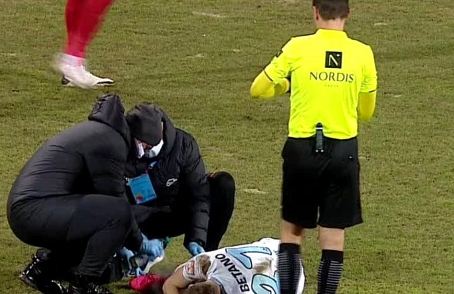 I-a dat de s-a julit! :)) Darius Olaru, la un pas să se accidenteze după ce l-a faultat pe Andrei Chindriş