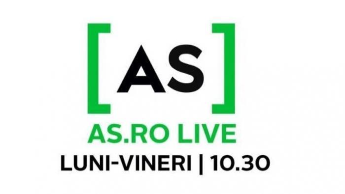 AS.ro LIVE | De la gimnastică, la circ, poveste de film! Amelia Racea este invitata lui Cătălin Oprișan, de la 10:30