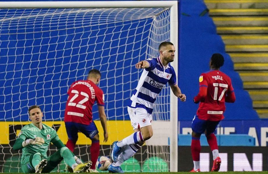 """George Puşcaş l-a impresionat pe antrenorul lui Reading! """"A muncit foarte mult"""". Românul a dat golul victoriei şi era să înscrie de la jumătatea terenului"""