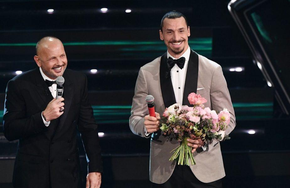 VIDEO   Zlatan Ibrahimovic a făcut show la Sanremo! Starul lui AC Milan a cântat alături de Sinisa Mihajlovic. Imagini memorabile!
