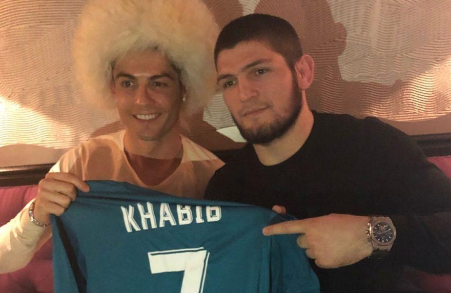 """Cristiano Ronaldo, dat de gol de Khabib, cu care vorbeşte zilnic: """"Se teme pentru fiul său"""". Ce a spus campionul din UFC despre rivalitatea lui CR7 cu Messi"""