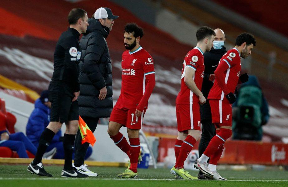 Liverpool, un butoi de pulbere! Salah, iritat după ce a fost schimbat de Klopp. Agentul său i-a anunţat plecarea