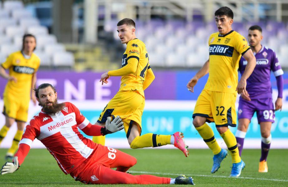 Valentin Mihăilă i-a vrăjit pe italieni. Mesajul în limba română postat de Parma după golul înscris în meciul nebun cu Fiorentina