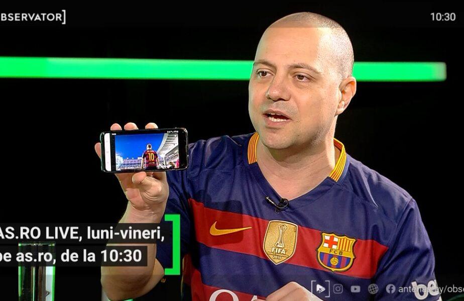 EXCLUSIV AS.ro LIVE | Dan Badea, Iniesta al glumelor! Cum a ajuns să țină cu Barcelona și jucătorul preferat din România