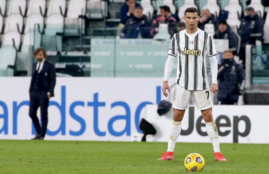 Juventus, anunţ făcut despre Cristiano Ronaldo. Andrea Pirlo, declaraţii despre viitor după ce a ratat principalul obiectiv