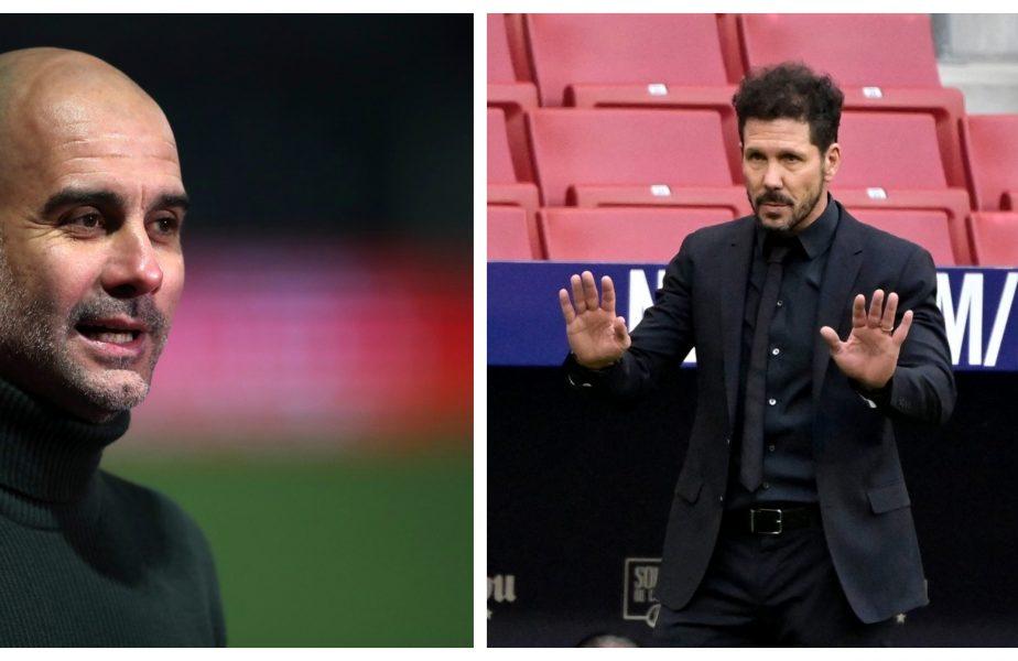Guardiola și Simeone sunt tot mai aproape de titlu! În seară de Champions League, Manchester City și Atletico Madrid s-au distanțat de rivale în campionat