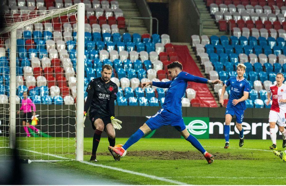 """Steven Gerrard, cuvinte mari la adresa lui Ianis Hagi după Slavia Praga – Rangers 1-1: """"A făcut o treabă fantastică!"""""""