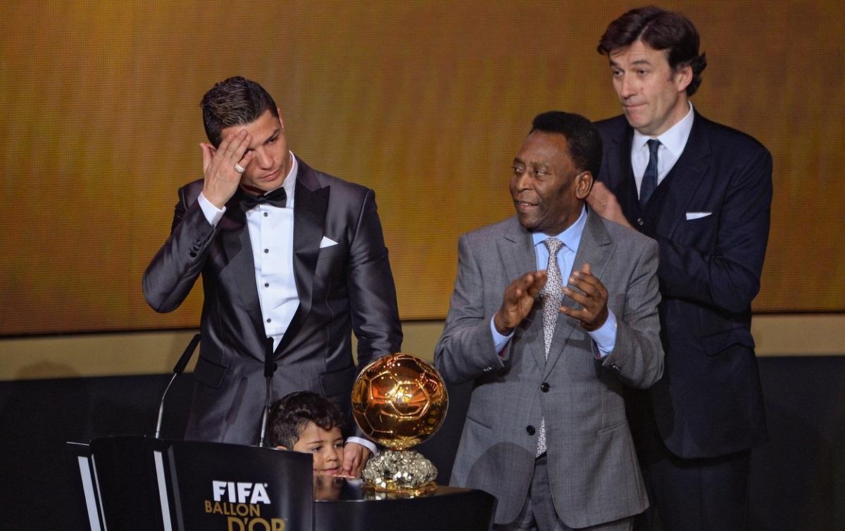 Cristiano Ronaldo, alături de Pele