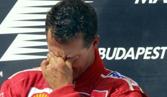 Michael Schumacher, emoţionat