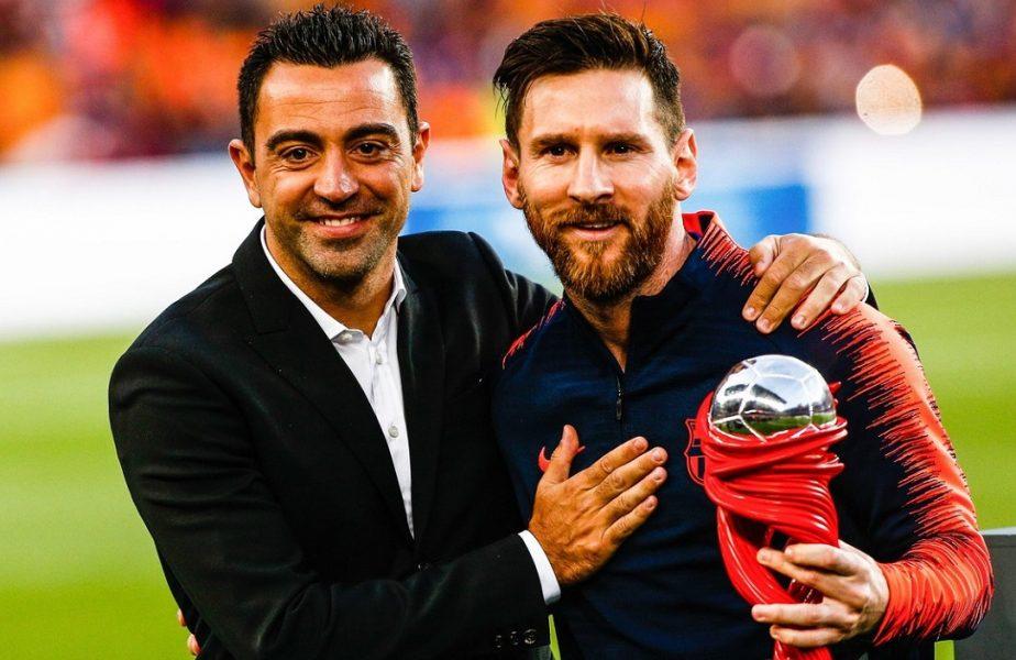 Xavi și Lionel Messi