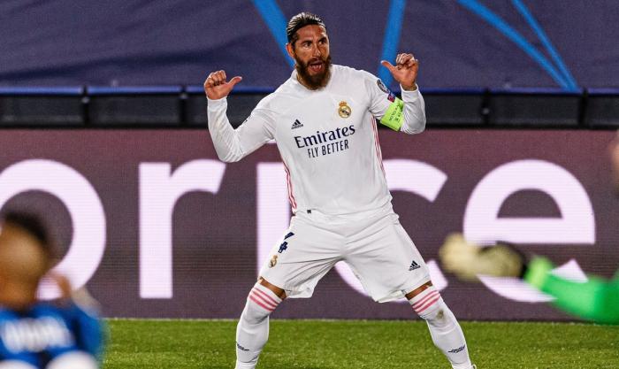Sergio Ramos, fundașul golgheter! A pornit pe urmele lui Roberto Carlos după golul marcat în Real Madrid –  Atalanta 3-1