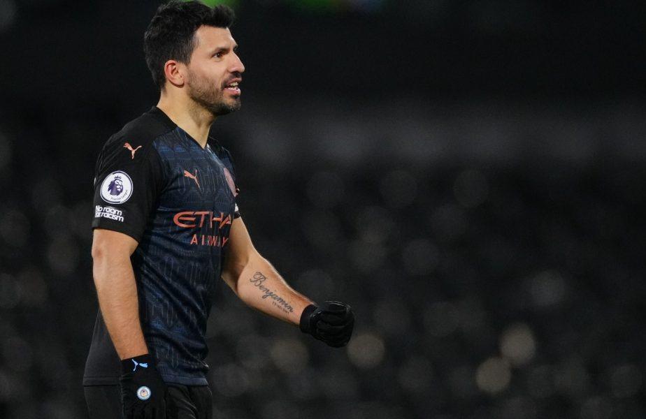 """Sergio Aguero a răbufnit în meciul lui Manchester City cu Borussia Monchengladbach! """"Nu-mi dau mingea"""". Ce spune de plecarea la Barcelona"""