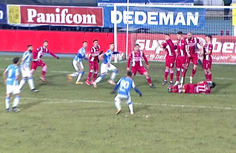 Scandal cât casa în Poli Iaşi – Dinamo! Moldovenii, nemulţumiţi că nu au primit penalty. Decizie controversată a arbitrului