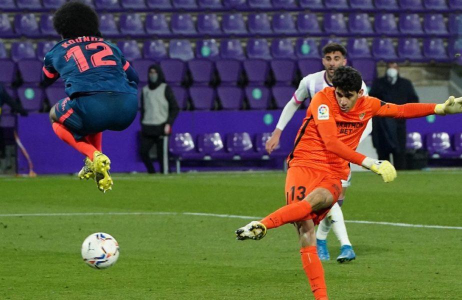 """VIDEO. Nebunie în Valladolid – Sevilla 1-1! Portarul Bono a egalat pentru andaluzi la ultima fază. """"Nici nu am știut cum să mă bucur"""""""