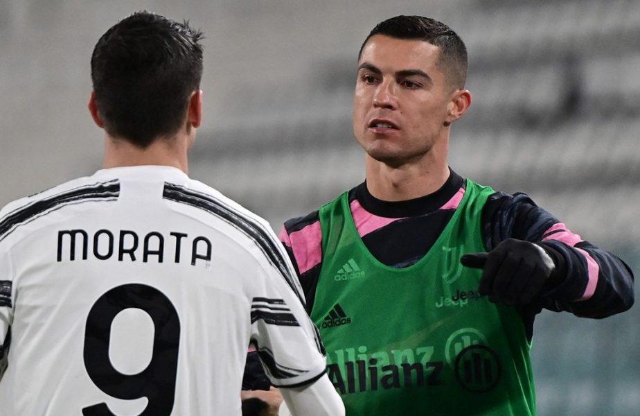 """Cristiano Ronaldo, apărat după valul de critici! Alvaro Morata, dezvăluiri din vestiar: """"De asta e frustrat!"""". Ce spune despre transferul portughezului la Real Madrid"""