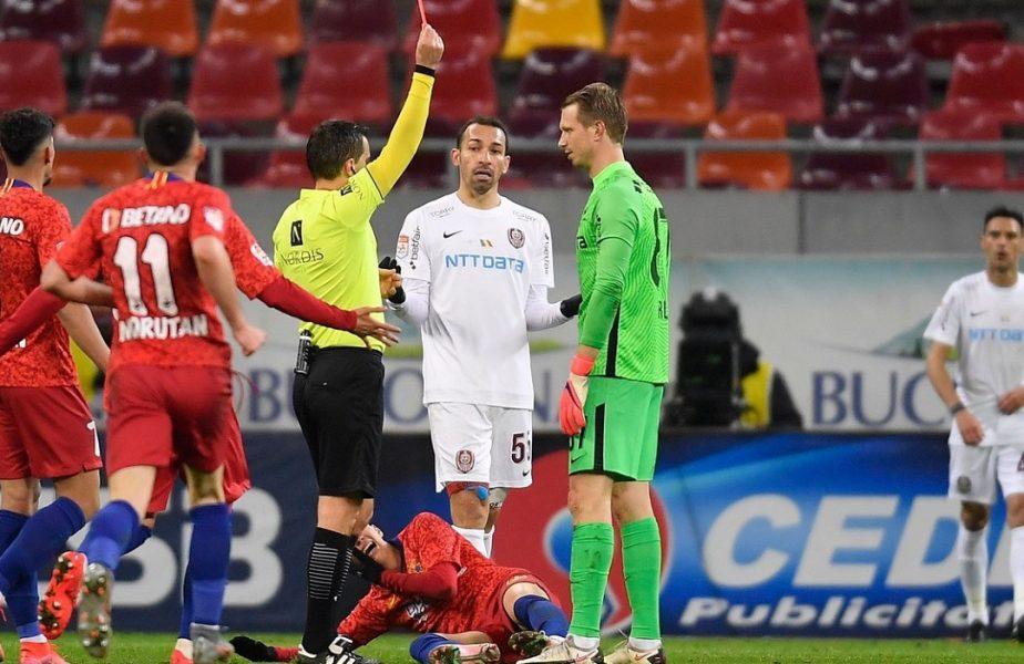 Giedrius Arlauskis şi-a aflat suspendarea! Câte etape va rata după ce a fost eliminat direct în derby-ul cu FCSB