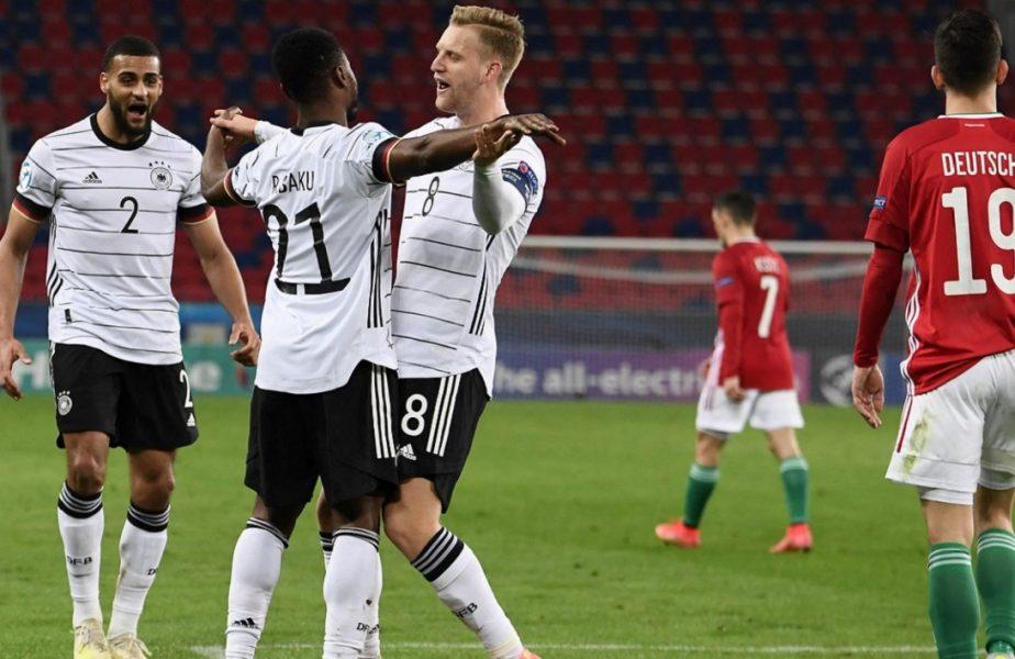 Ungaria U21 – Germania U21 0-3 | Victorie categorică pentru nemți. Cum arată clasamentul grupei A, din care face parte și România
