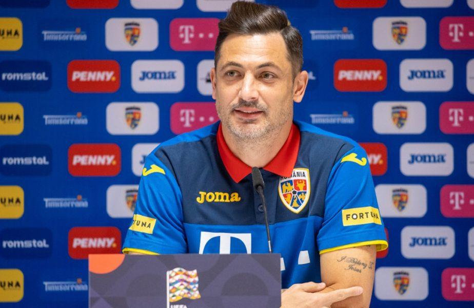 Mirel Rădoi a revenit pe bancă pentru meciul cu Macedonia de Nord! Selecționerul s-a vindecat de COVID -19. Imagini de senzație din vestiar
