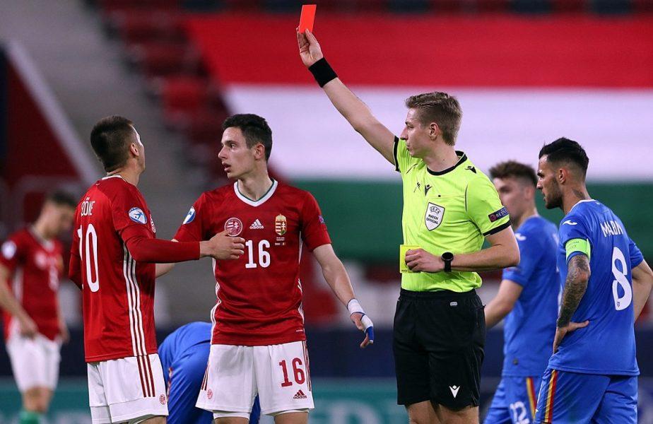 România U21 – Ungaria U21 | Penalty clar neacordat tricolorilor. Decizia uluitoare a arbitrului, după ce i-a lăsat pe maghiari în 10 jucători