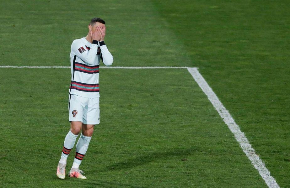 """Cristiano Ronaldo, criticat dur după ce a dat cu banderola de pământ în Serbia – Portugalia 2-2: """"E inacceptabil"""""""