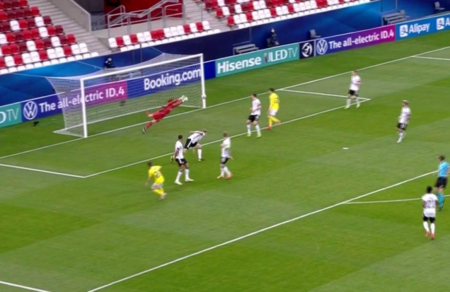 Cât ghinion! Alexandru Măţan a fost aproape de golul carierei! Bara s-a opus la execuţia atacantului în România U21 – Germania U21 0-0