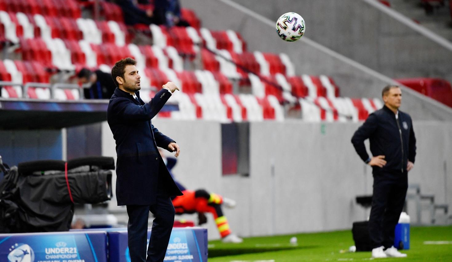 Adrian Mutu, în timpul meciului România U21 - Germania U21 0-0