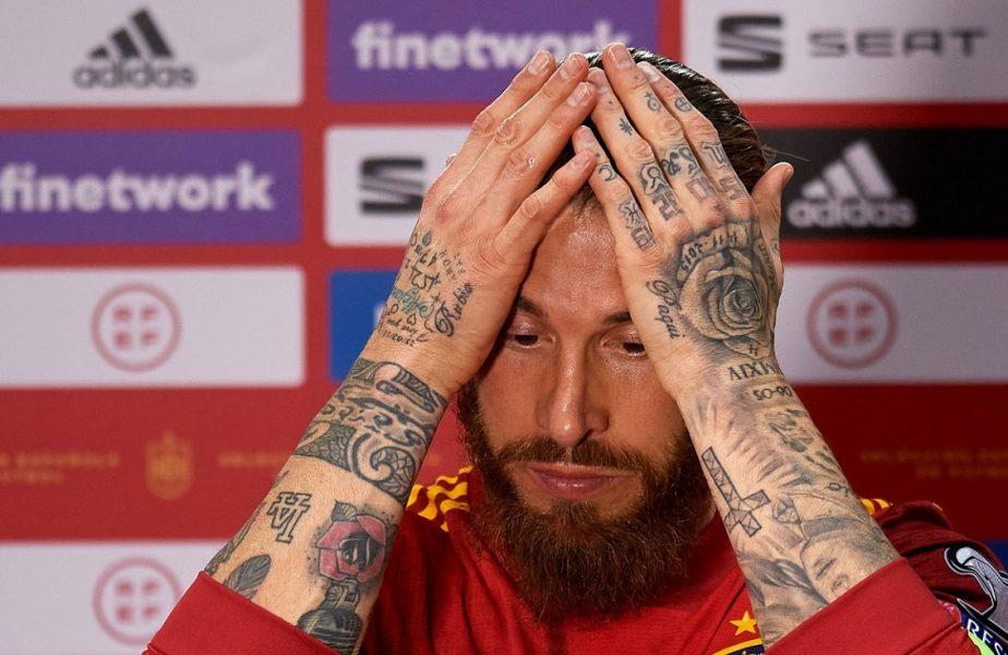 """Lovitură de proporţii primită de Real Madrid. Sergio Ramos s-a accidentat din nou şi riscă să rateze El Clasico şi """"dubla"""" cu Liverpool!"""