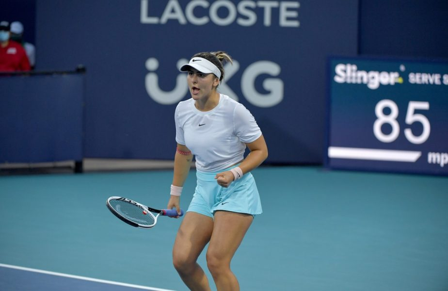 Bianca Andreescu s-a calificat în finala turneului de la Miami după un meci epic! Duel stelar cu Ashleigh Barty pentru trofeu