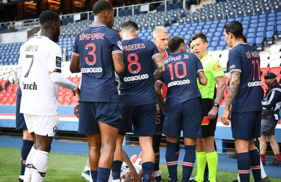 UPDATE | Neymar, eliminat pentru că şi-a lovit un adversar în PSG – Lille 0-1. Brazilianul a sărit la bătaie în drumul spre vestiare. VIDEO