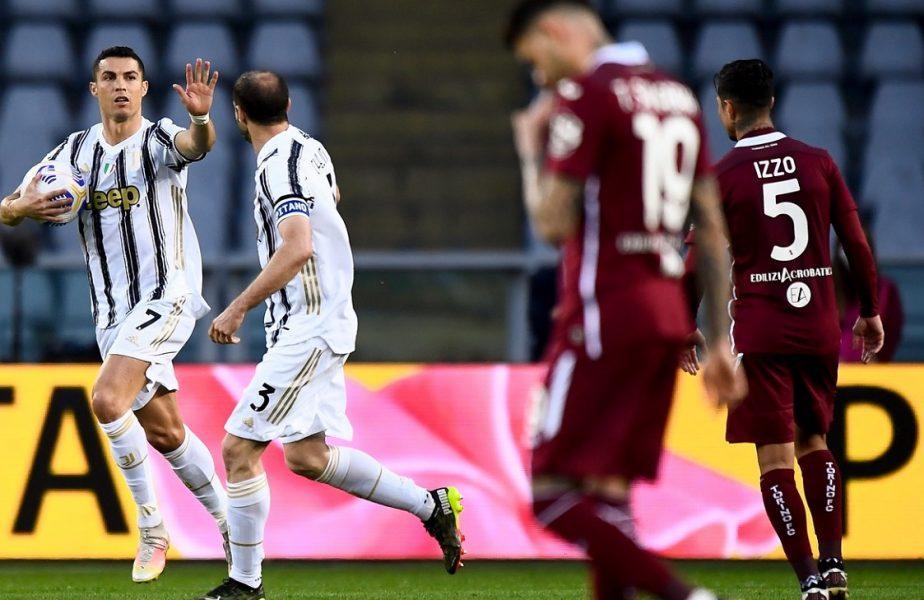 VIDEO. Cristiano Ronaldo, cel mai uşor gol al sezonului în Torino – Juventus 2-2. Cifrele uriaşe ale portughezului în Serie A