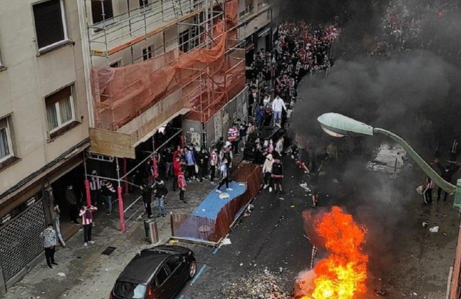 UPDATE. Imagini șocante! Ultrașii lui Athletic Bilbao au făcut dezastru înainte de finala Cupei Spaniei. Real Sociedad a câştigat trofeul