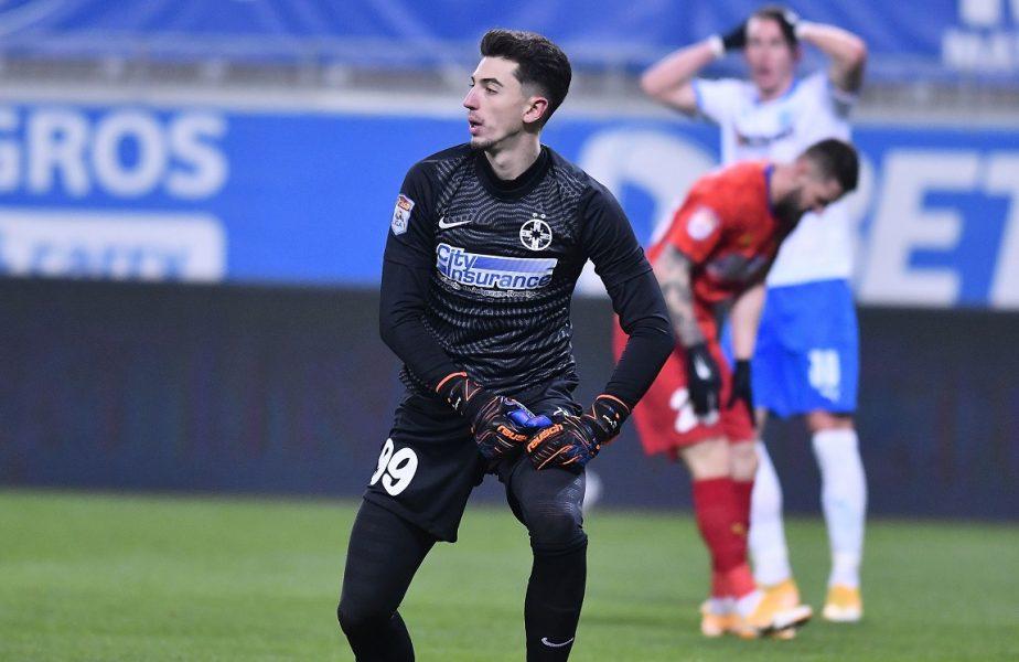"""FCSB – Universitatea Craiova 0-0. Derby-ul ratărilor! """"Zidul"""" Andrei Vlad, omul meciului. Cicâldău a ratat un penalty"""