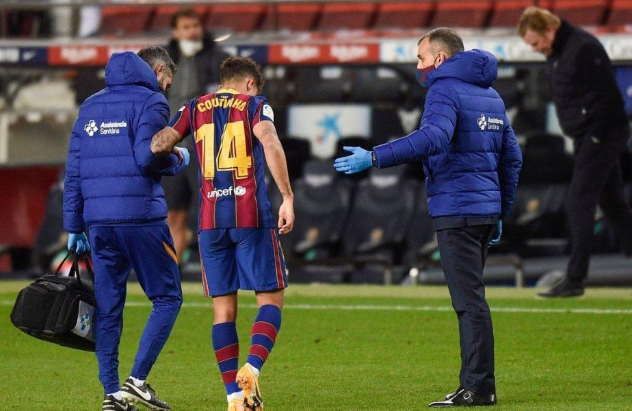 Ghinion teribil pentru Philippe Coutinho. Brazilianul Barcelonei a fost operat! Final de sezon pentru mijlocaşul pe care s-a plătit o avere